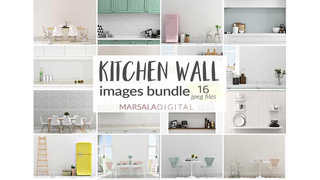 موکاپ دیوار آشپزخانه