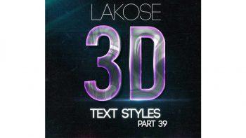 دانلود استایل متن سه بعدی Lakose 3D Text Styles Part 39