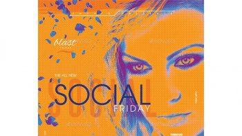 دانلود فایل لایه باز بنر و کاور فیسبوک Night Club Flyer & Facebook Cover Template
