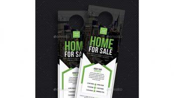 دانلود فایل لایه باز آویز درب مشاور املاک Real Estate Door Hanger