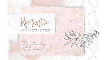 دانلود پترن برگ Romantic Leaves Collection