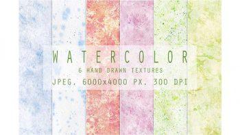 دانلود تکسچر آبرنگی Set of watercolor textures