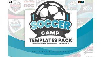 دانلود فایل لایه باز بروشور ورزشی Soccer Camp Templates Pack
