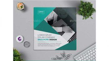 دانلود وکتور بروشور Square Bi-fold Brochure