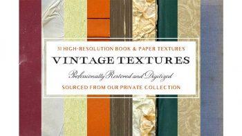 دانلود تکسچر کاغذ و کتاب Vintage Book & Paper Textures