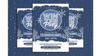 دانلود فایل لایه باز بنر Winter Party Flyer