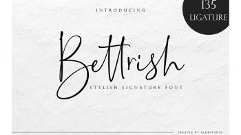 فونت انگلیسی به سبک امضا Bettrish // Stylish Signature Font