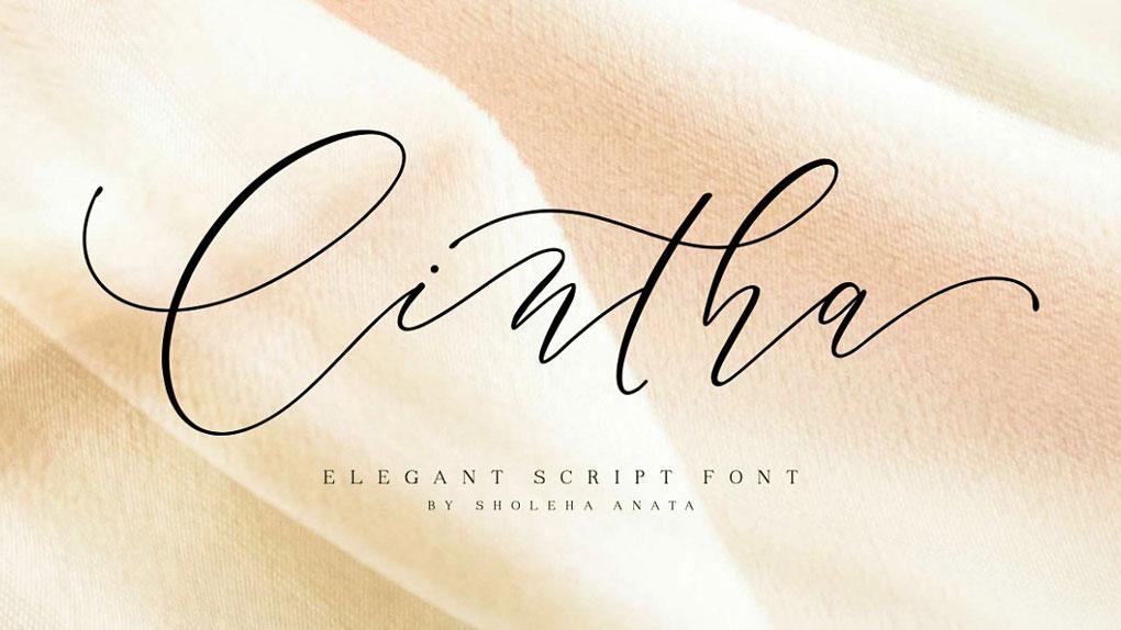 فونت انگلیسی خوشنویسی Cintha