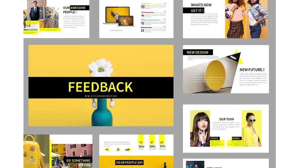 قالب پاورپوینت Feedback Presentation Template
