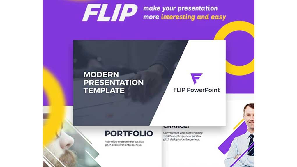 قالب پاورپوینت Flip Presentation