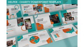دانلود قالب پاورپوینت خیریه Helper – Charity Powerpoint Template