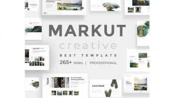 دانلود قالب پاورپوینت و کینوت Markut Creative Powerpoint Template