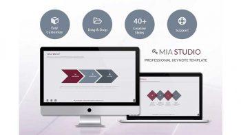 دانلود قالب کینوت Mia Keynote Presentation Template