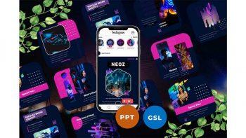 دانلود قالب پاورپوینت و گوگل اسلاید اینستاگرام Neoz – Instagram Post & Story Templates