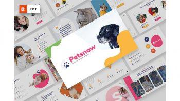 دانلود قالب پاورپوینت پت شاپ Petsnow – Pet Care & Pet Shop Powerpoint Template