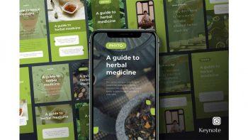 دانلود قالب کینوت اینستاگرام Phyto – Herbal Medicine Instagram Keynote
