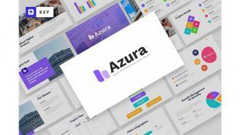 دانلود قالب کینوت AZURA – Project Management Keynote Template