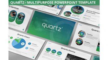 دانلود قالب پاورپوینت چند منظوره Quartz – Multipurpose Powerpoint Template