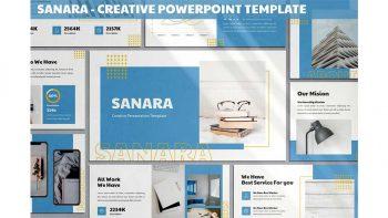دانلود قالب پاورپوینت Sanara – Creative Powerpoint Template