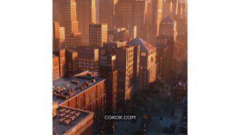 دانلود آبجکت ساختمان بروکلین از Kitbash3D
