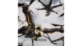 دانلود آبجکت هواپیما بدون سرنشین از Kitbash3D