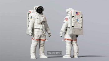 دانلود آبجکت کاراکتر فضانورد ناسا EMU
