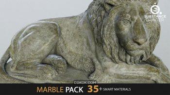 دانلود اسمارت متریال سنگ مرمر برای Substance Painter