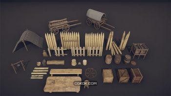 دانلود آبجکت لوازم قرون وسطایی از CGTrader
