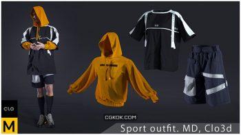 دانلود آبجکت لباس ورزشی مردانه از ArtStation