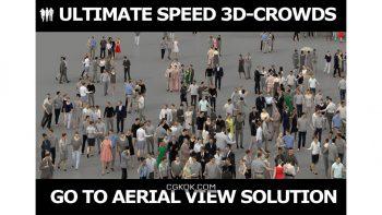 دانلود آبجکت جمعیت مردم 3D PEOPLE CROWDS