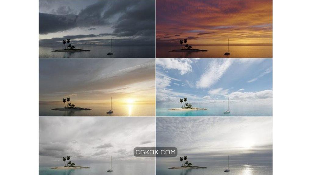 دانلود 20 تصویر HDRI آسمان