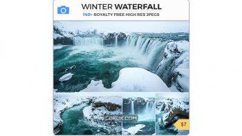 دانلود تصاویر رفرنس آبشار زمستانی