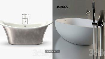 دانلود 31 مدل سه بعدی وان حمام