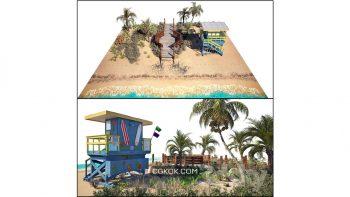 دانلود مدل سه بعدی ساحل دریا