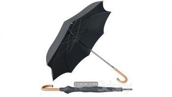 دانلود مدل سه بعدی چتر مشکی کلاسیک