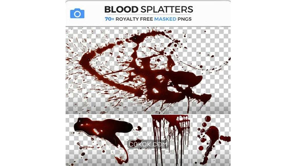 تصاویر رفرنس پاشیدن خون