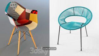 دانلود 60 مدل سه بعدی صندلی از Pro 3DSky – مجموعه سوم