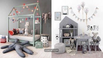 دانلود 30 مدل سه بعدی لوازم اتاق کودک از Pro 3DSky – مجموعه دوم