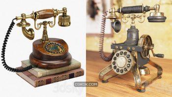 دانلود مدل سه بعدی تلفن کلاسیک