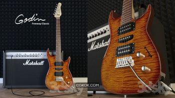 دانلود مدل سه بعدی گیتار الکتریک