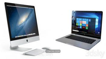 دانلود مدل سه بعدی لپ تاپ و کامپیوتر
