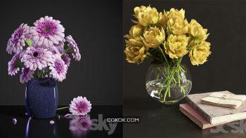 دانلود 70 مدل سه بعدی گل و گلدان از Pro 3DSky – مجموعه سوم