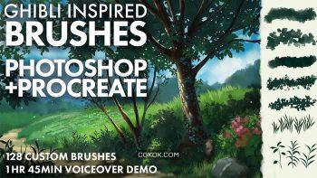 دانلود براش Ghibli برای فتوشاپ و Procreate