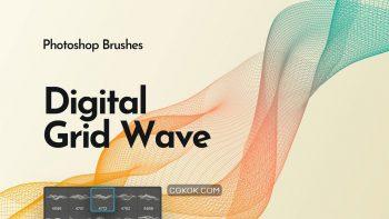 دانلود براش اشکال موجی شبکه ایی برای فتوشاپ