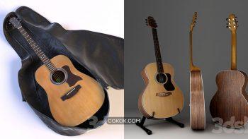 دانلود مدل سه بعدی گیتار