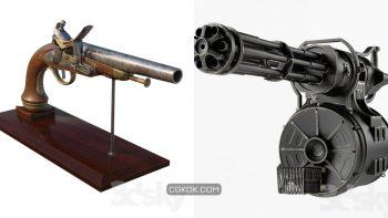 دانلود مدل سه بعدی اسلحه