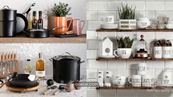 دانلود 56 مدل سه بعدی لوازم آشپزخانه از Pro 3DSky – مجموعه دوم