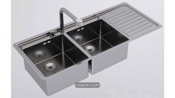 دانلود مدل سه بعدی سینک ظرفشویی