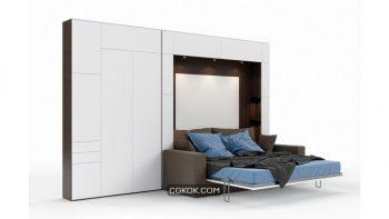 دانلود مدل سه بعدی تخت خواب مدرن از Pro 3DSky – مجموعه چهارم