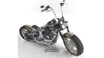 دانلود مدل سه بعدی موتور سیکلت
